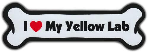 Yellow Refrigerators For Cars More Dog Bone Magnet: I Love My Lab