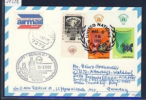 58248-LH-FF-Berlin-Prag-29-3-92-Karte-ab-UNO-New-York-TAB