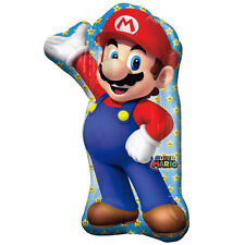 """Super Mario Brothers 17/"""" Square Shape Foil Balloon Birthday Party Supplies ~ 2ct"""