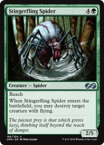 Uncommon 4 x Stingerfling Spider 186//254 - Ultimate Masters