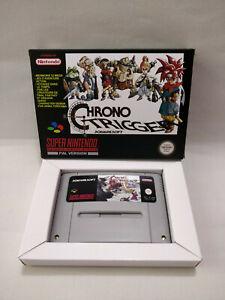 Chrono Trigger Boxed SNES Game Cart (PAL) for Super Nintendo UK/Europe