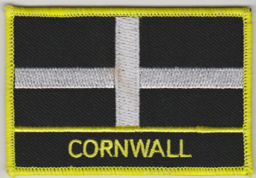 Cornwall Crest Oblong Embroidered Patch Badge