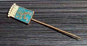 Sammeln & Seltenes Schlussverkauf Praga Anstecknadel Hellblau Weiß Glasiert Maße 10x16mm Exquisite Traditionelle Stickkunst