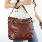 NWT Coach Leather Brooke Hobo Shoulder Bag Satchel Purse Z27744 Brown RARE NEW