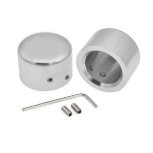 Chrome-Front-Axle-Cap-Nut-Cover-Fit-For-Harley-Softail-Dyna-Touring-Street-Glide
