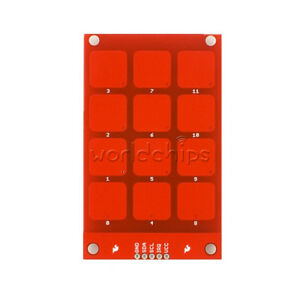 MPR121-Capacitive-Touch-Keypad-Shield-Module-Sensitive-key-keyboard-for-arduino
