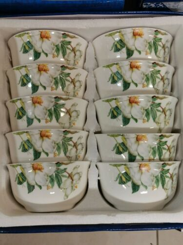 Japanese Asian Style. 10pc High Quality Floral Rice//Soup//Dessert Bowls