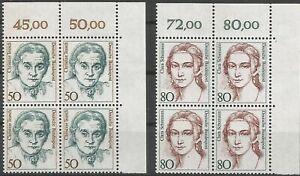 Federal-Frg-Minr-1304-1305-Mint-Block-of-Four-Corner-2-Unfolded