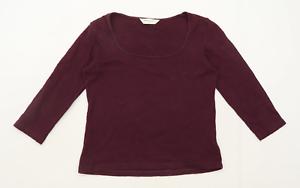 Dorothy Perkins Womens Size 12 Cotton Purple Top (Regular)