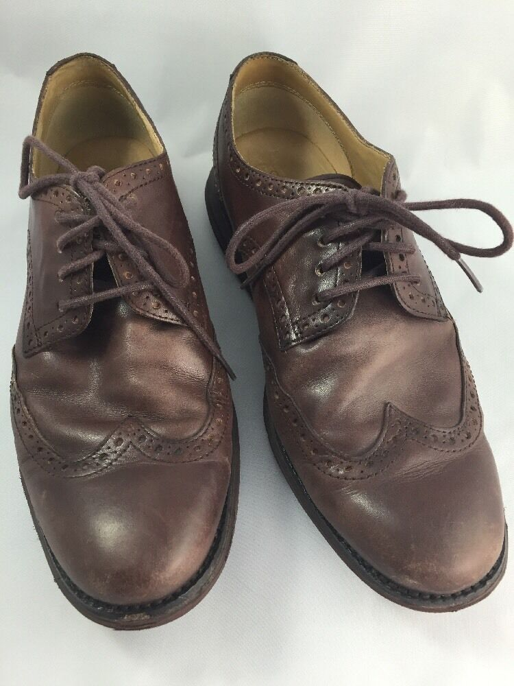 Cole Haan Lunargrand Brown Wing Tip Leather Mens 8.5W