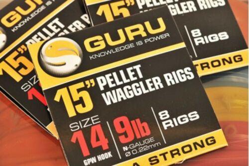 """2 Packs Guru 15/"""" Pellet Waggler Rig Ready Tied Rigs 8 Per Pack"""