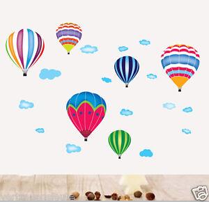 Wandtattoo Wandaufkleber 6 Heissluftballon Luftballons Wand Sticker