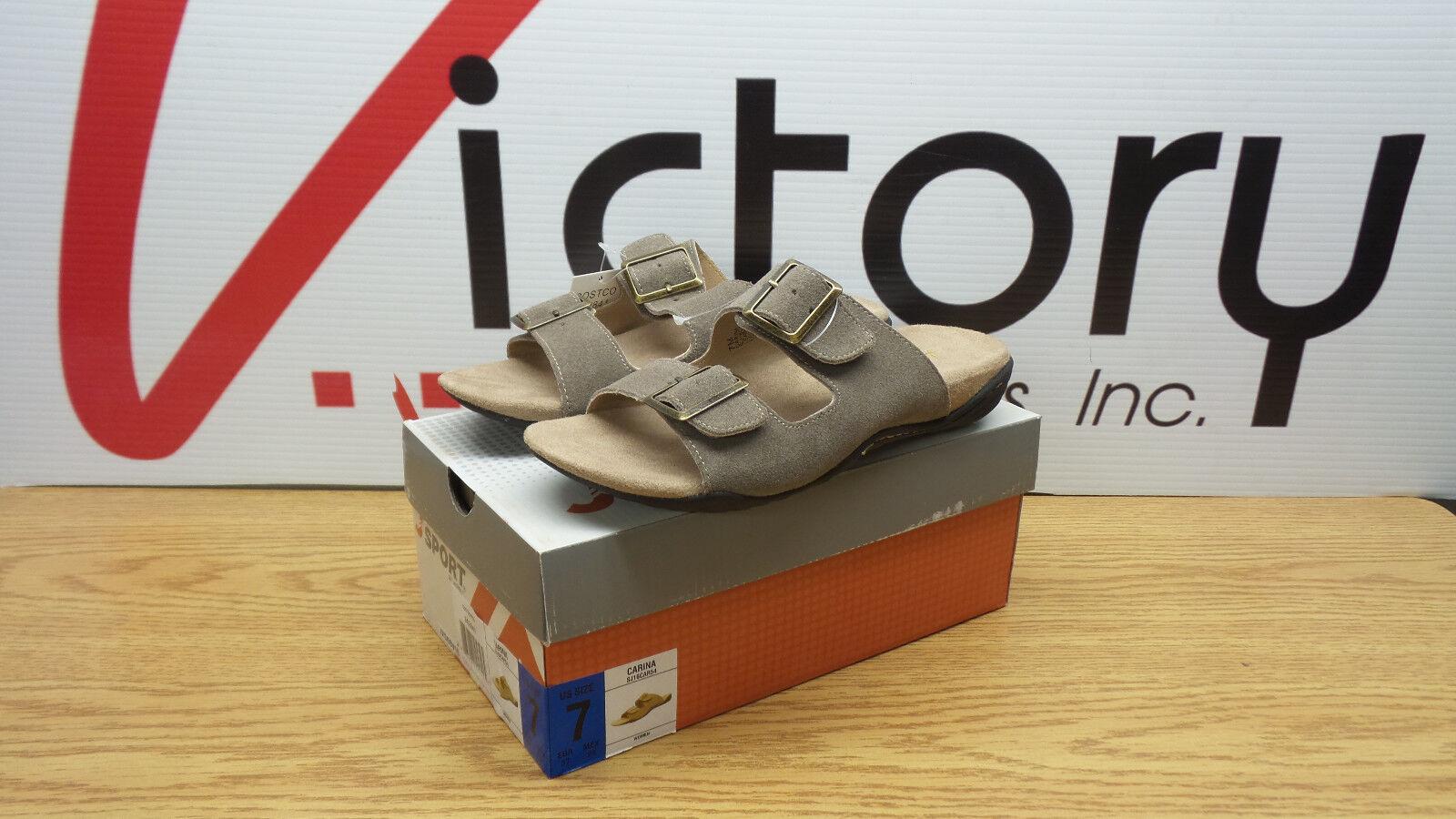 New JSport by Jambu Carina Tan Suede Slip-on Sandal 6 Sizes 7 8 9 10 Sizes 6 Buckle Shoe 7b885c