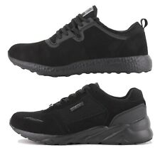 Mens Henleys Tech HX350 Bounce / HX950 Speed Black/Black Trainers (FCF2)