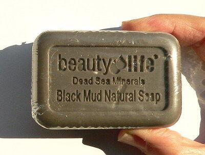 DEAD SEA Black Mud SOAP Bar Natural Salts Mineral Rich Face Body Healthy Skin BL