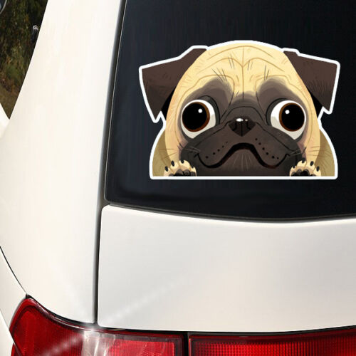 Pug Mom  Full Color Indoor Super Cute Pug Decal I love my Pug Outdoor