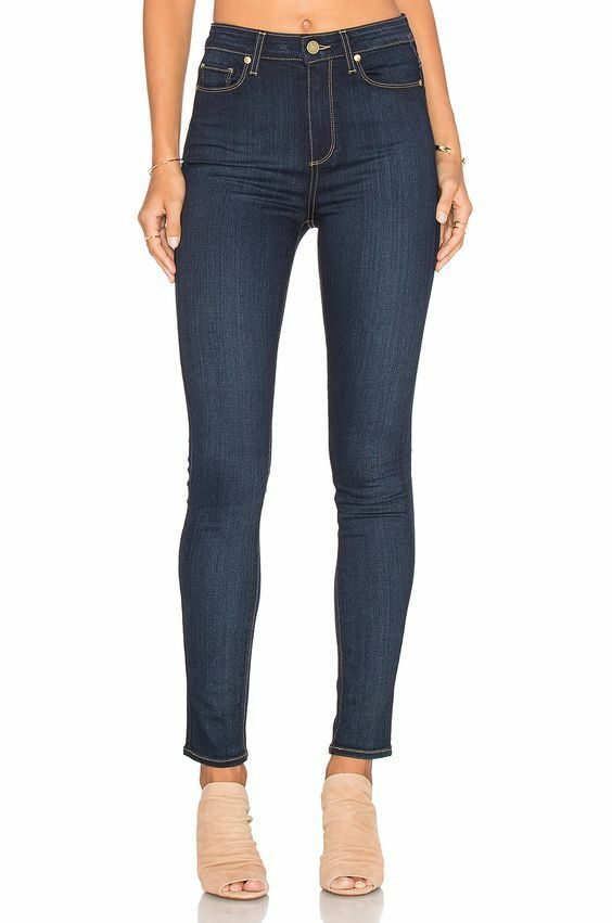 Paige Margot Ultra Skinny high waist denim jeans La Rue No Whiskers wash 30