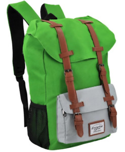 Everyday Deal Travel Laptop Backpack (Apple Green/Light Grey)