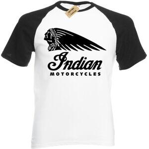 Camiseta-motera-indio-para-hombre-de-beisbol-motocicletas-Moto-Cafe-Racer-Bicicleta-Clasica