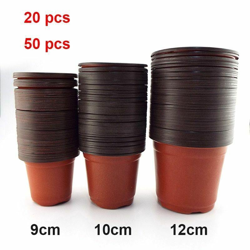 Plastic Flowerpot Growing Pot Resistant Tray For Garden Plants Spring Home Decor