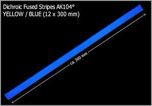 49-33-m-Dichroytische-Glasstreifen-YELLOW-BLUE-12x300mm-Fused-Stripes