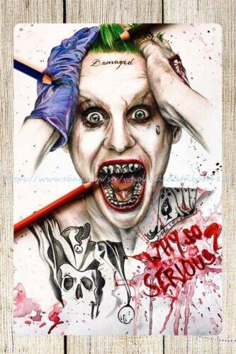 reproductions Harley Quinn joker metal tin sign