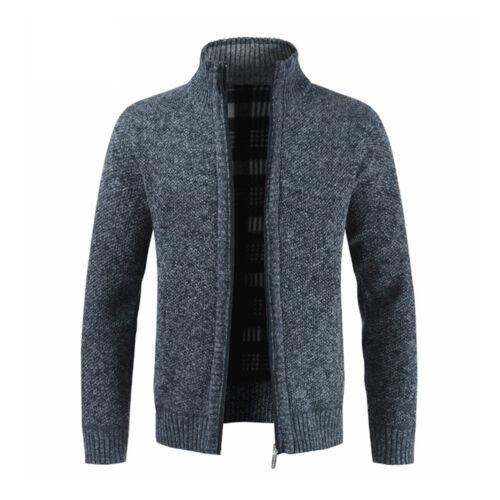 Men/'s Chunky Collar Cardigan Sweater Shawl Knitted Jumper Coat Jacket Warm Tops