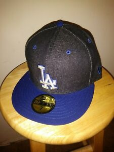 sports shoes 7bc9e 0725c Image is loading Los-Angeles-Cap-MLB-LA-DODGERS-Black-Blue-
