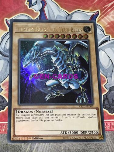 Carte Yu Gi Oh DRAGON BLANC AUX YEUX BLEU VERSION 3 LCKC-FR001