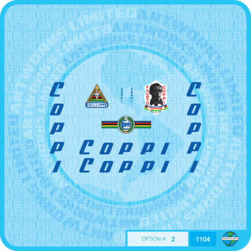 Fausto Coppi Bicycle Decals Transfers Stickers Set 2