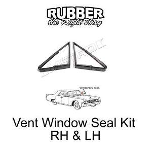 1961 1962 1963 lincoln continental vent window seal kit ebay. Black Bedroom Furniture Sets. Home Design Ideas