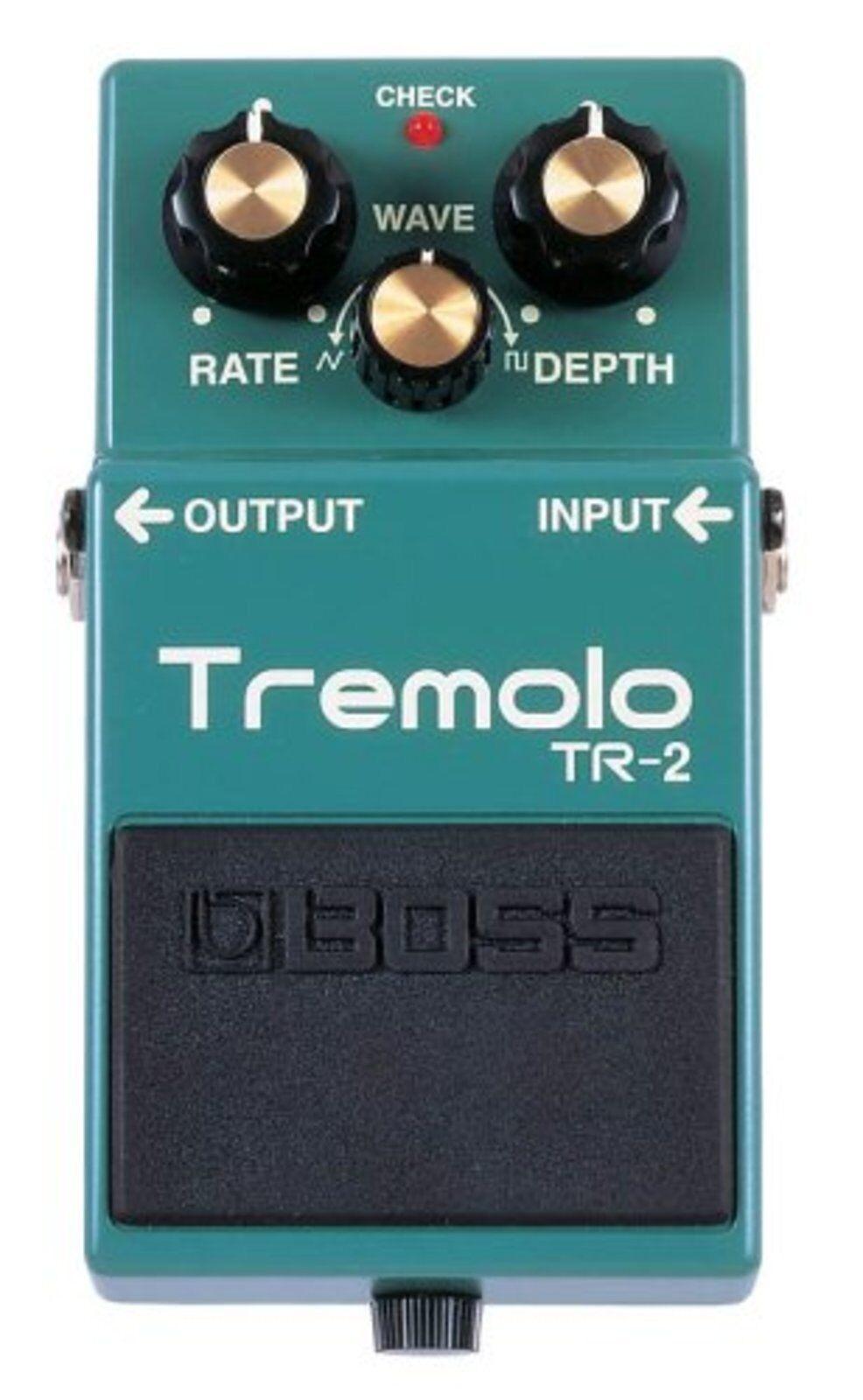 Boss Tremolo Tr-2 Tremolo Gitarre Effekt Pedal W Abtastung   Neu Japan