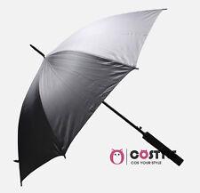 Mens Anime Naruto Cosplay Props Sword Umbrella Gift Party 100cm Black Rain Sun