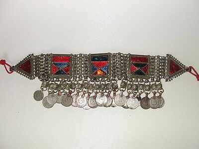 Vintage Kuchi heavy Choker, Bellydance Adornment, signed, rare Middle East