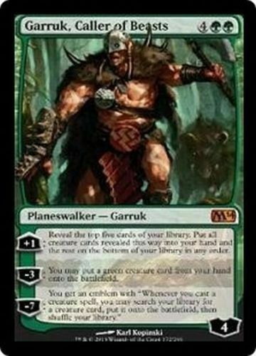 M14 MTG CALLER OF BEASTS 1x GARRUK NM Magic the Gathering