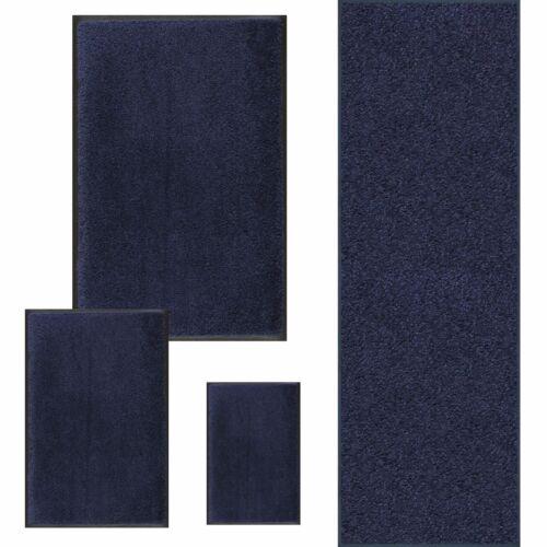 Größen wählbar Waschbare Fussmatte Dunkelblau Marine Blau wash+dry Original