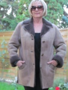WOMENS-XL-XXL-Shearling-Lambskin-Sheepskin-Baby-Lamb-Coat-Jacket-Ladies-D4136