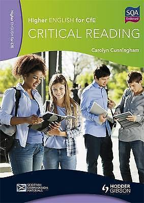 Higher English for CfE: Critical Reading by Cunningham, Carolyn (Paperback book,