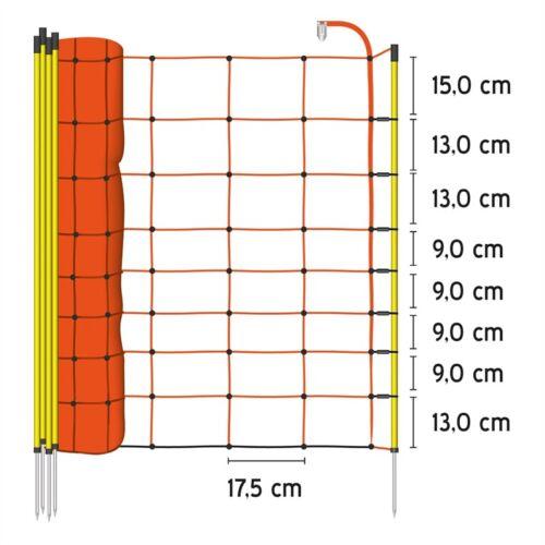 Schafnetze 90 oder 108cm 50m Schafzaun Elektrozaun Weidezaun Hundezaun