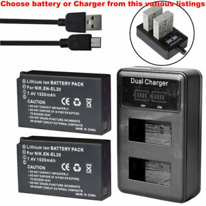 Battery-Or-LCD-Charger-for-Nikon-DL24-500-F-2-8-5-6-Coolpix-P1000-EN-EL20-a