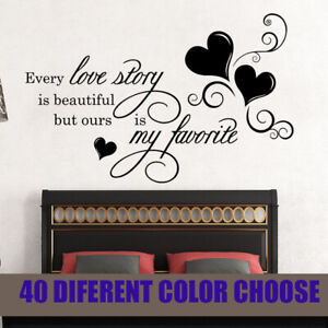 Details about Love Inspirational Quotes Bedroom Wall Stickers Room  Decoration Decals Removable