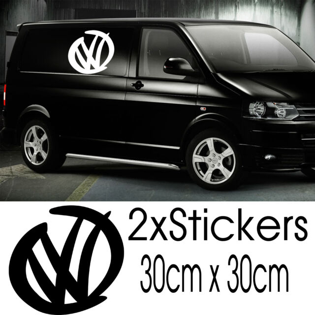 2x large vw volkswagen transporter stickers decals window surf t4 t5 van vinyl
