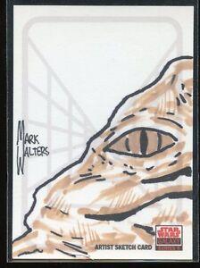 2010 Topps Star Wars Galaxy 5 Artist Sketch Card - MARK WALTERS