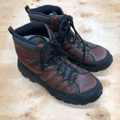 Men's Cabelas Winter Boots Leather Brown Size 12 H