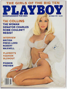 playboy magazine october 1991 girls of the big ten ebay. Black Bedroom Furniture Sets. Home Design Ideas
