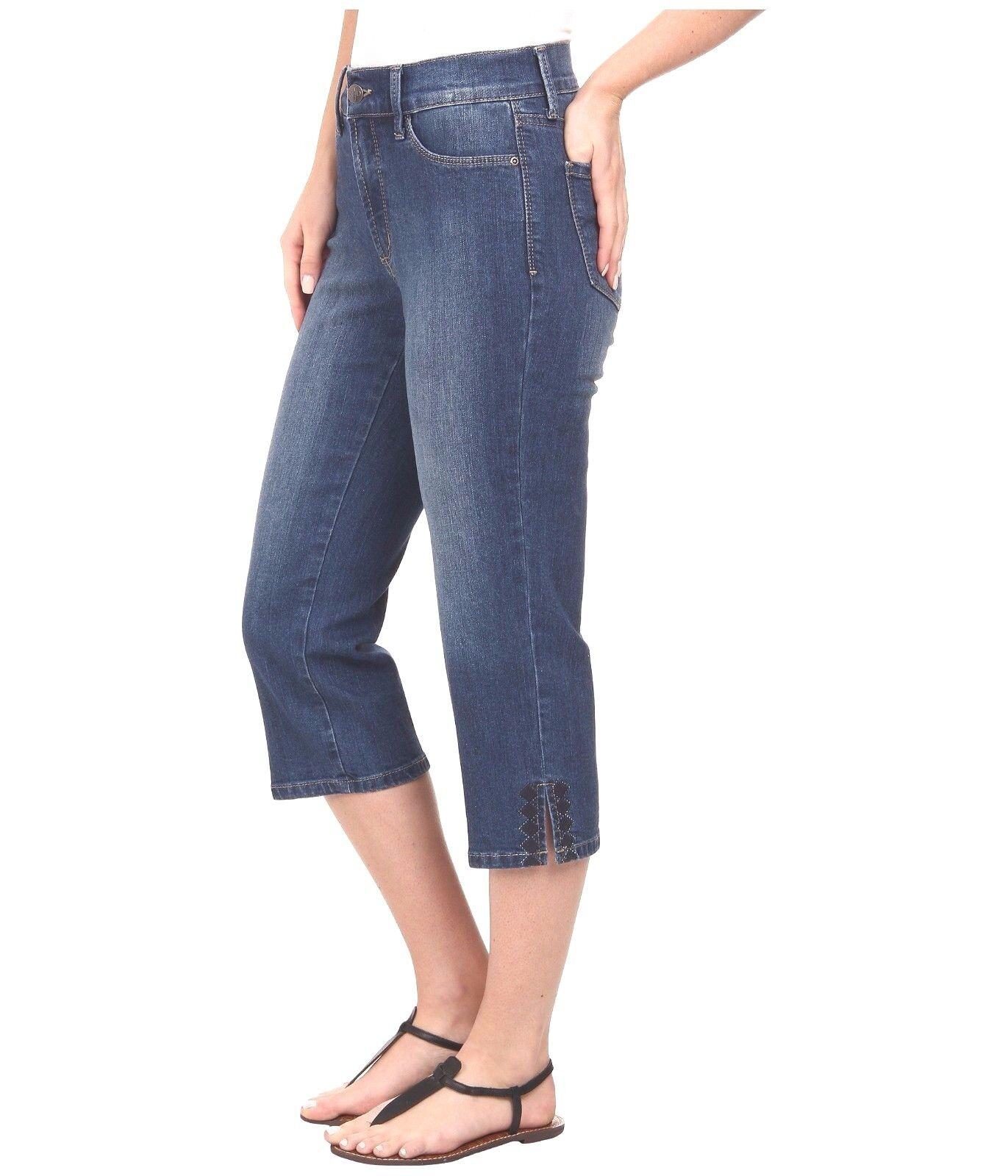 NEW NYDJ Not Your Daughters Jeans CROP capri Ariel Whittier medium wash sz 6