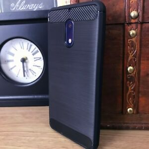 Tough-Rugged-Certified-Slim-Case-BLUE-Carbon-Fiber-Bumper-Cover-Mate-20-LITE
