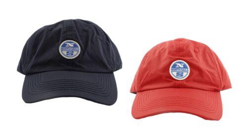 Cappello North Sails baseball patch blu rosso poliestere visiera mare regolabile