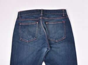 Acne-Studios-Vega-Rouge-Couture-Hommes-Jeans-Coupe-Slim-Taille-32-32