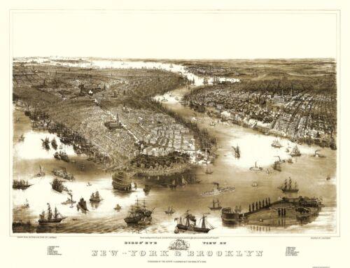 New York, Brooklyn New York - 1851 - 30 x 23
